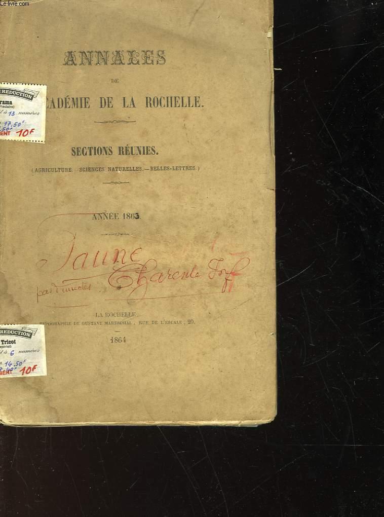 ANNALES DE LA SOCIETE D'AGRICULTURE DE LA ROCHELLE - N°28