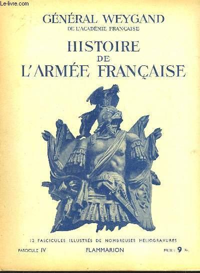 HISTOIRE DE L'ARMEE FRANCAISE - FASCICULE N°4