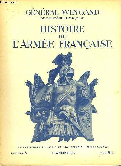 HISTOIRE DE L'ARMEE FRANCAISE - FASCICULE N°5