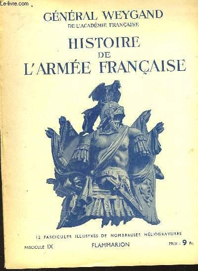 HISTOIRE DE L'ARMEE FRANCAISE - FASCICULE N°9