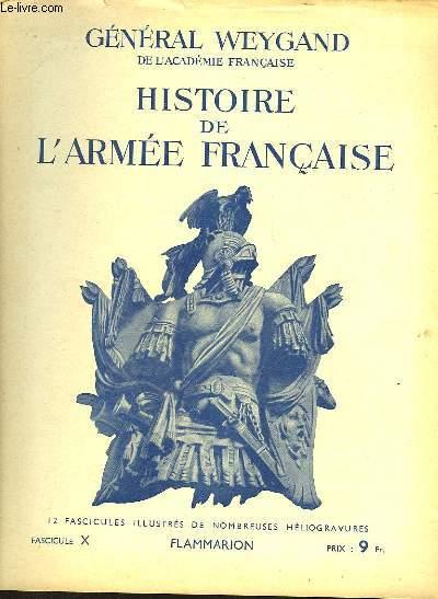 HISTOIRE DE L'ARMEE FRANCAISE - FASCICULE N°10