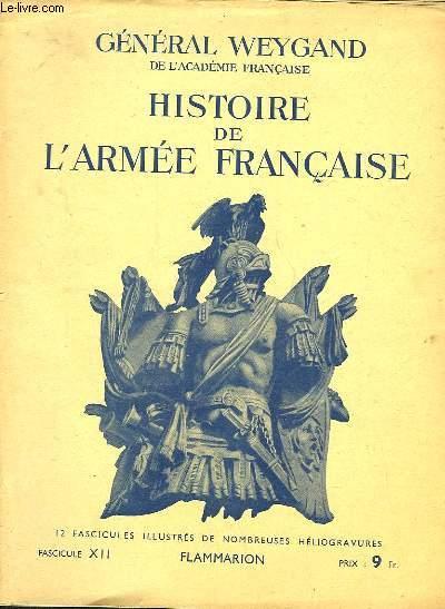 HISTOIRE DE L'ARMEE FRANCAISE - FASCICULE N�12
