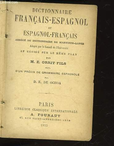 DICTIONNAIRE FRANCAIS-ESPANGOL