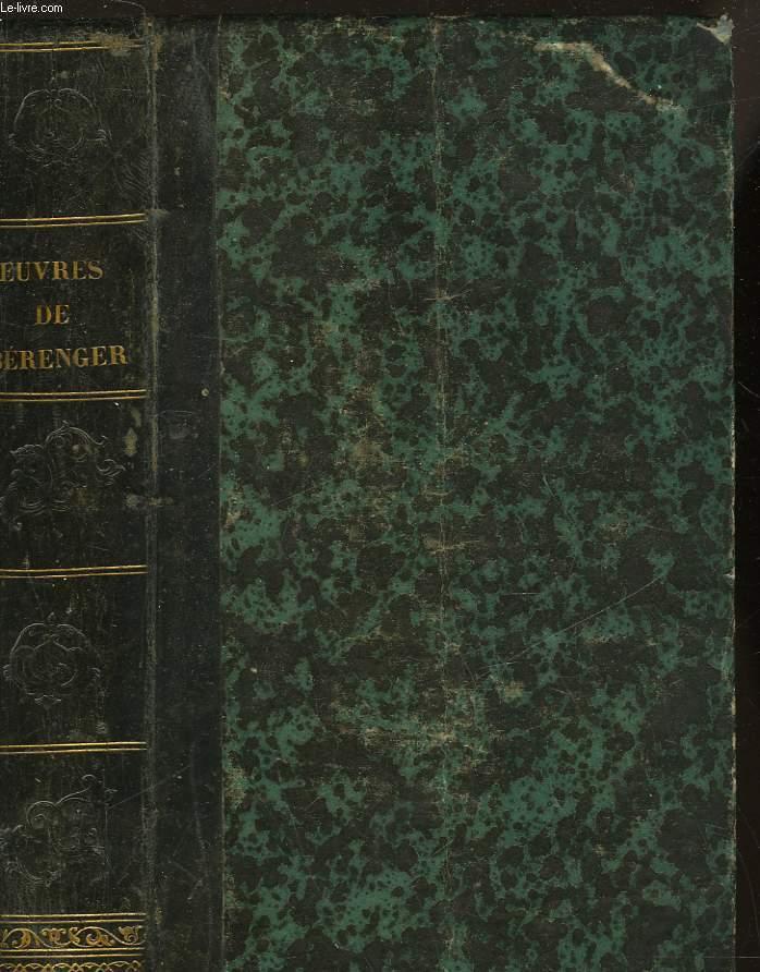 OEUVRES COMPLETES DE P. J. DE BERANGER
