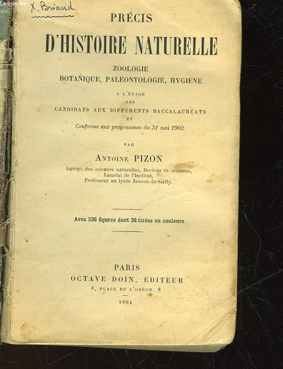 PRECIS D'HISTOIRE NATURELLE