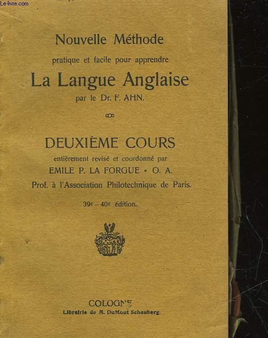 LA LANGUE ANGLAISE - 2° COURS