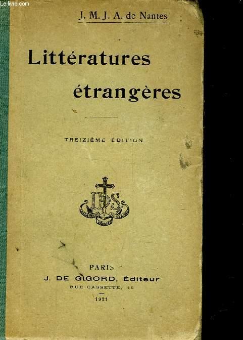 LITTERATURES ANCIENNES ET MODERNES ETRANGERES