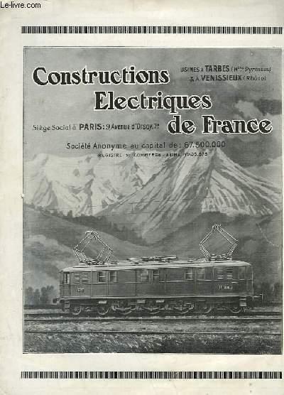CONSTRUCTIONS ELECTRIQUES DE FRANCE
