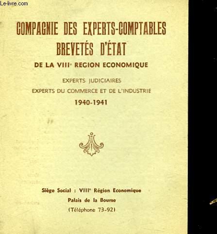 COMPAGNIE DES EXPERTS-COMPTABLES BREVETES D'ETAT DE LA 8° REGION ECONOMIQUE