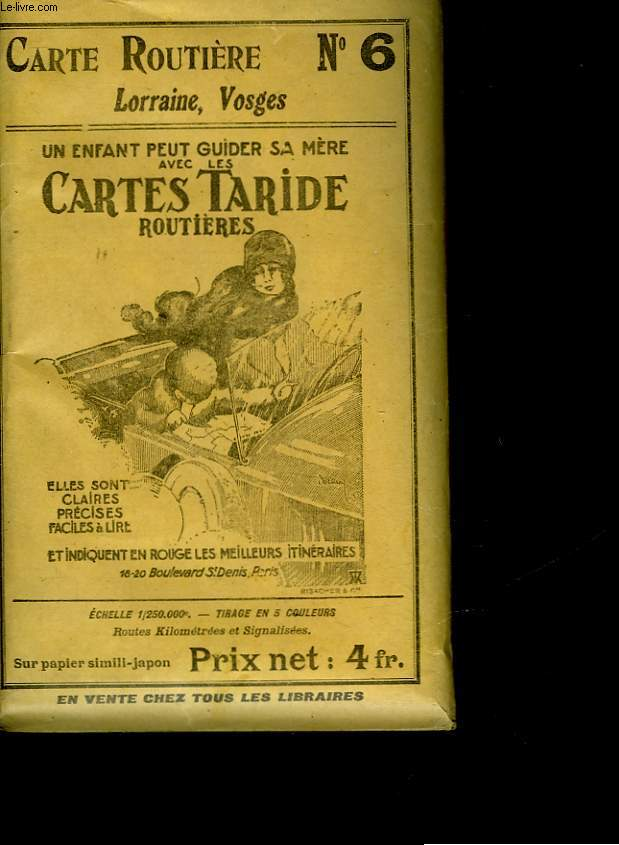 CARTE TARIDE - N°6 - LORRAINE VOSGES