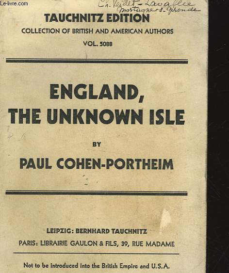 ENGLAND, THE UNKNOW ISLE - VOL 5088