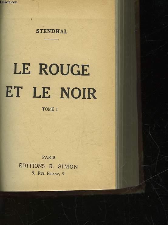 LE ROUGE ET LE NOIR - TOME 1