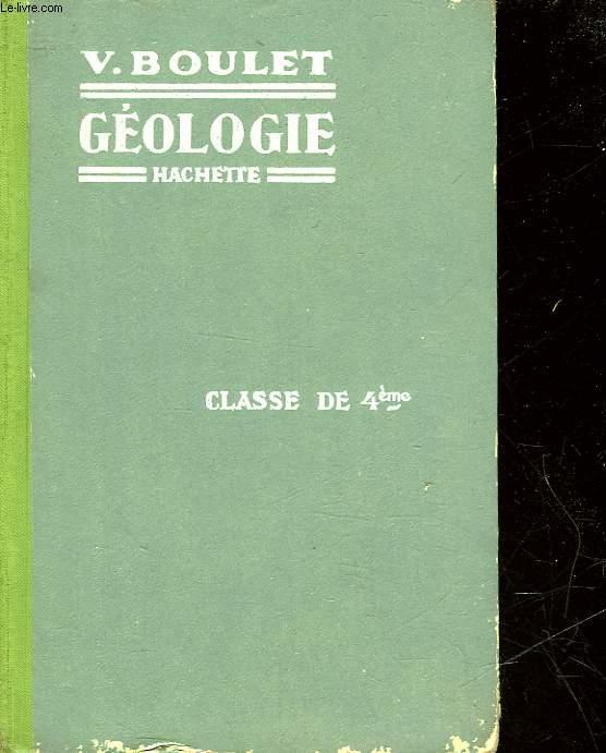 GEOLOGIE - CLASSE DE 4°