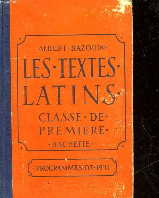 LES TEXTES LATINS - CLASSE DE 6°