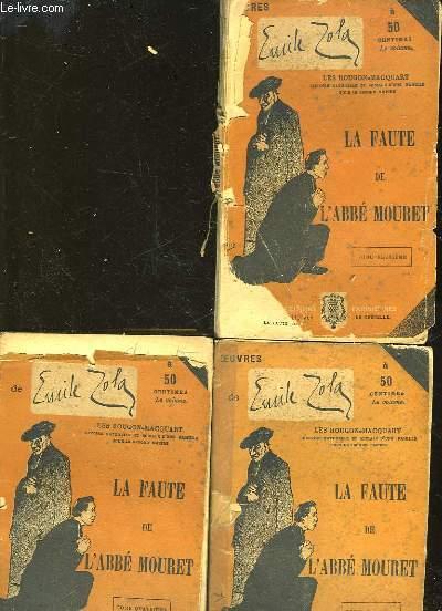 LA FAUTE DE L'ABBE MOURET - 3 TOMES - INCOMPLET