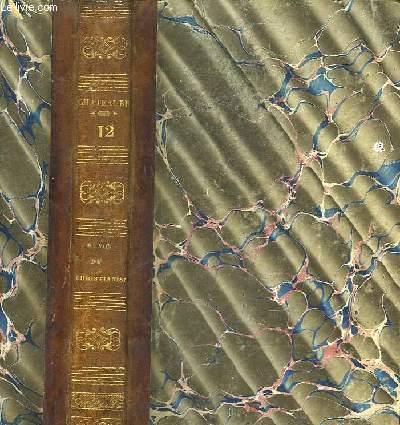 OEUVRES COMPLETES DE M. LE VICOMTE DE CHATEAUBRIAND - TOME 12 - GENIE DU CHRISTIANISME - TOME 2