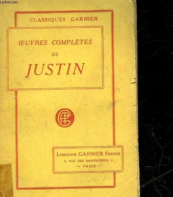 OEUVRES COMPLETES DE JUSTIN - ABREGE DE L'HISTOIRE UNIVERSELLE DE TROGUE POMIPEE