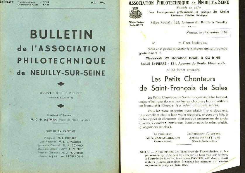 ASSOCIATION PHILOTECHNIQUE DE NEUILLY-S-SEINE -