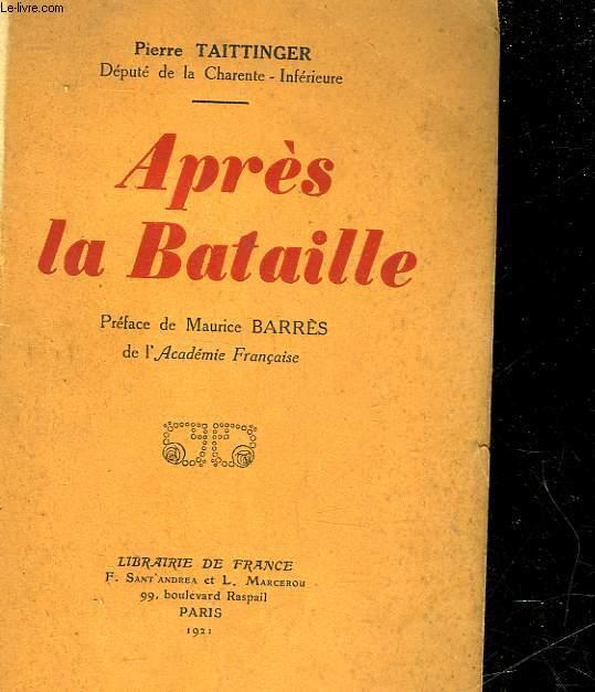 APRES LA BATAILLE