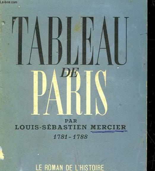 TABLEAU DE PARIS 1781 - 1788