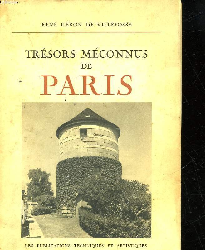 TRESORS MECONNUS DE PARIS