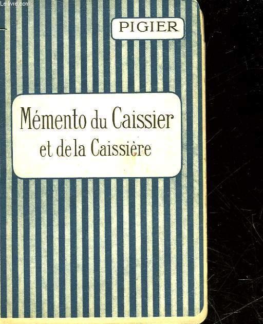 MEMENTO DU CAISSIER ET DE LA CAISSIERE