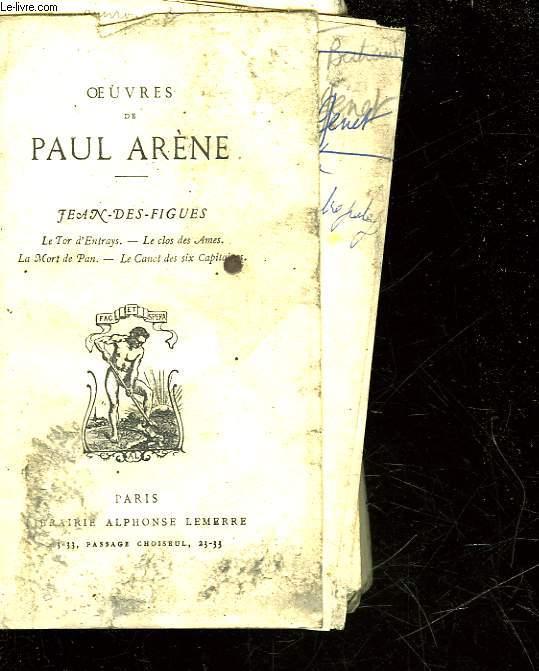 OEUVRES DE PAUL ARENE