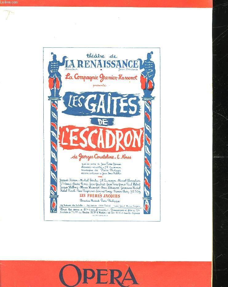 LES GAITES DE L'ESCADRON - PIECE EN 9 TABLEAUX
