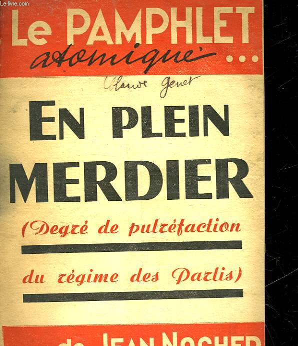 LE PAMPLET ATOMIQUE EN PLEIN MERDIER - N°24