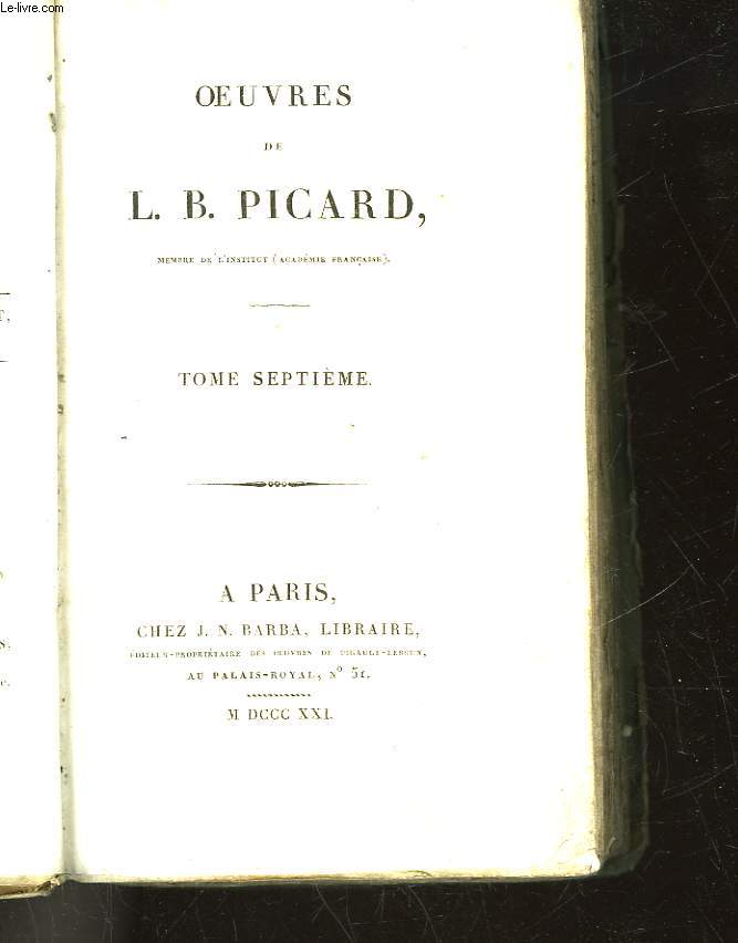 OEUVRES DE L. B. PICARD - TOME 7