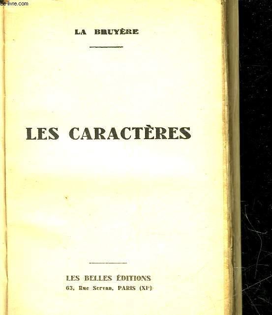 LES CARACTERES