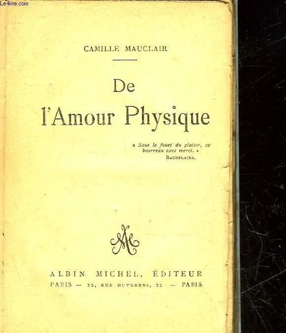 DE L'AMOUR PHYSIQUE
