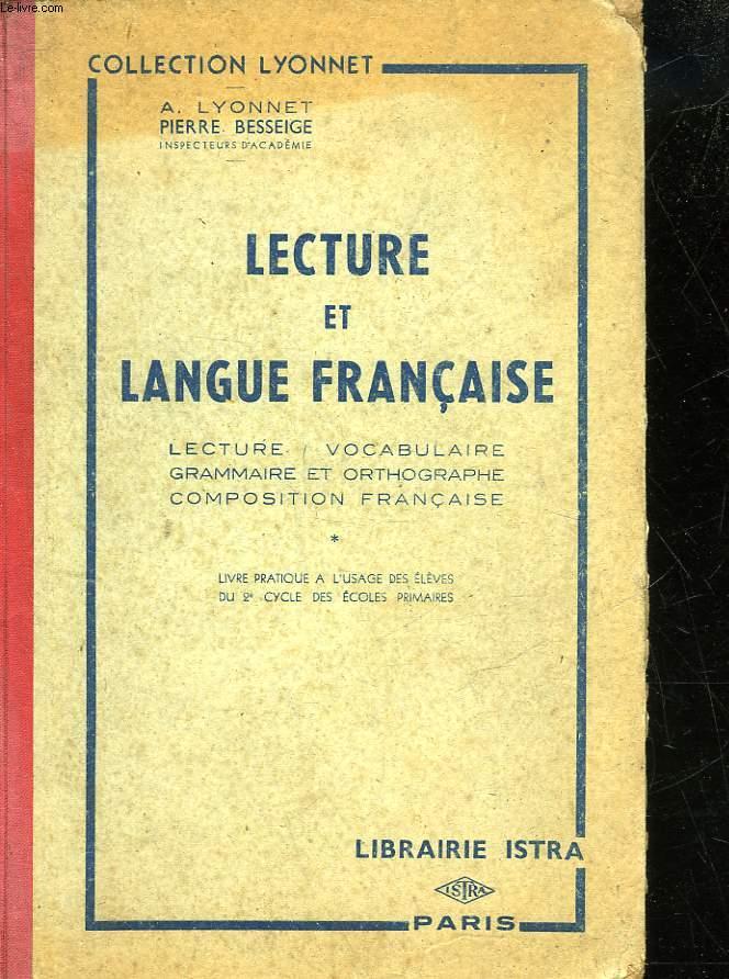 LECTURE ET LANGUE FRANCAISE