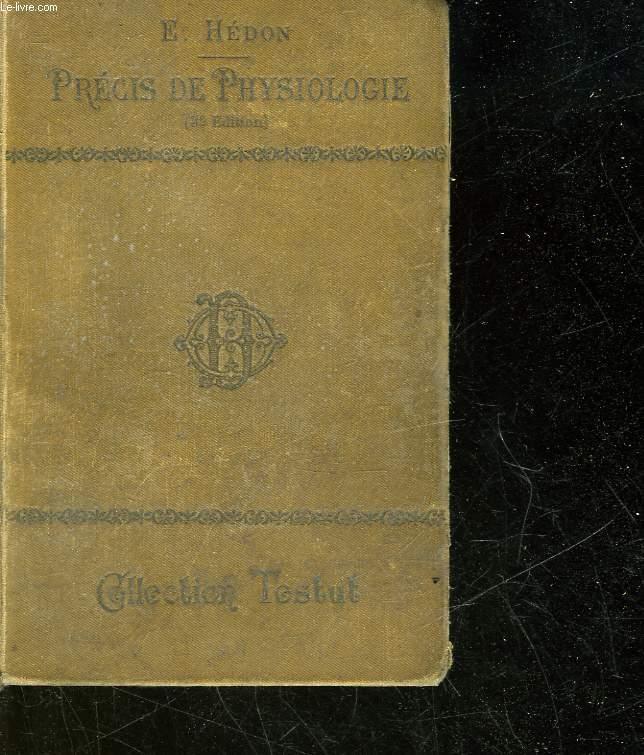 PRECIS DE PHYSIOLOGIE