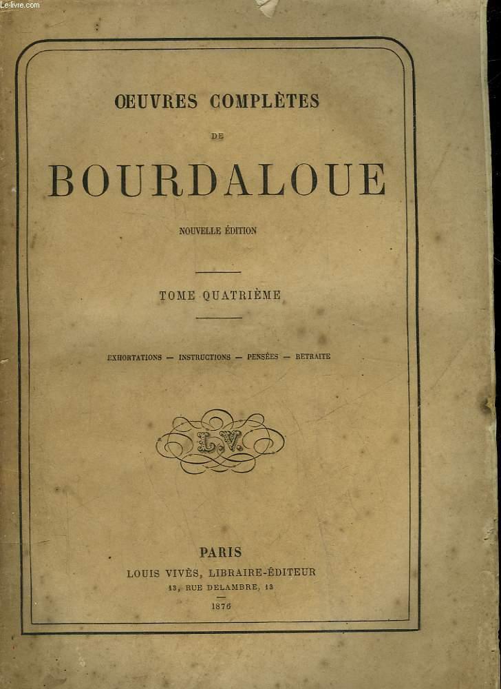 OEUVRES COPLETES DE BOUDALOUE - 4 TOMES