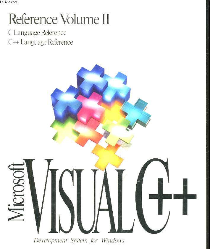 REFERENCE VOLUME 2 - MICROSOFT VISUAL C++