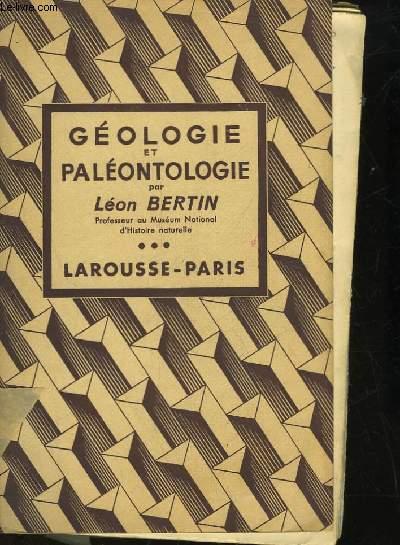 GEOLOGIE ET PALEONTOLOGIE