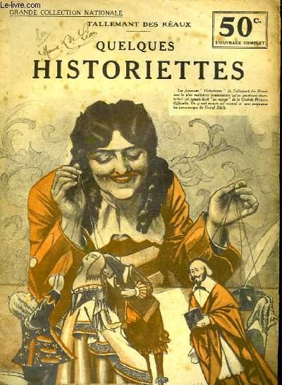QUELQUES HISTORIETTES