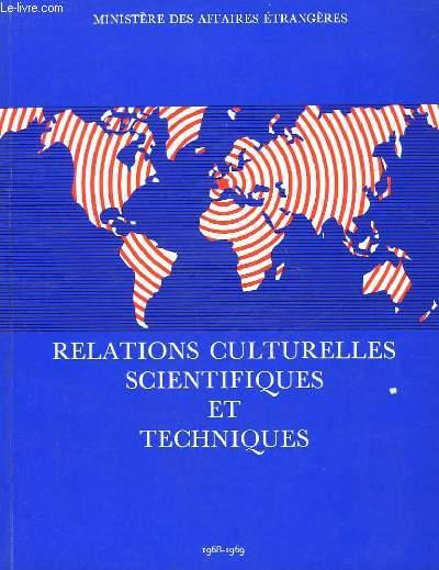 RELATIONS CULTURELLES SCIENTIFIQUES ET TECHNIQUES