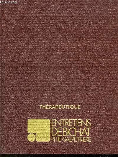 ENTRETIENS DE BICHAT PITIE-SALPETRIERE - THERAPEUTIQUE