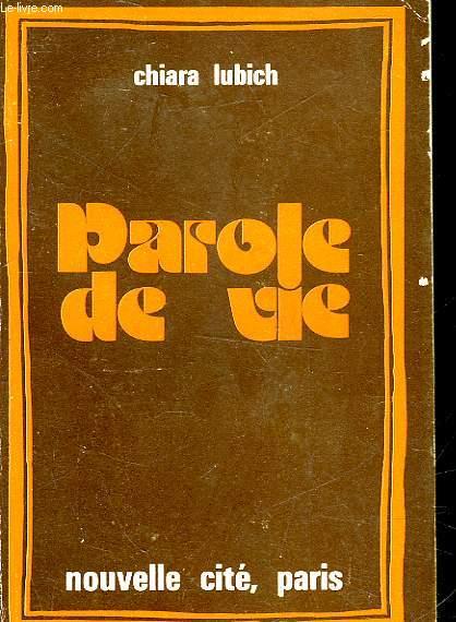PAROLE DE VIE