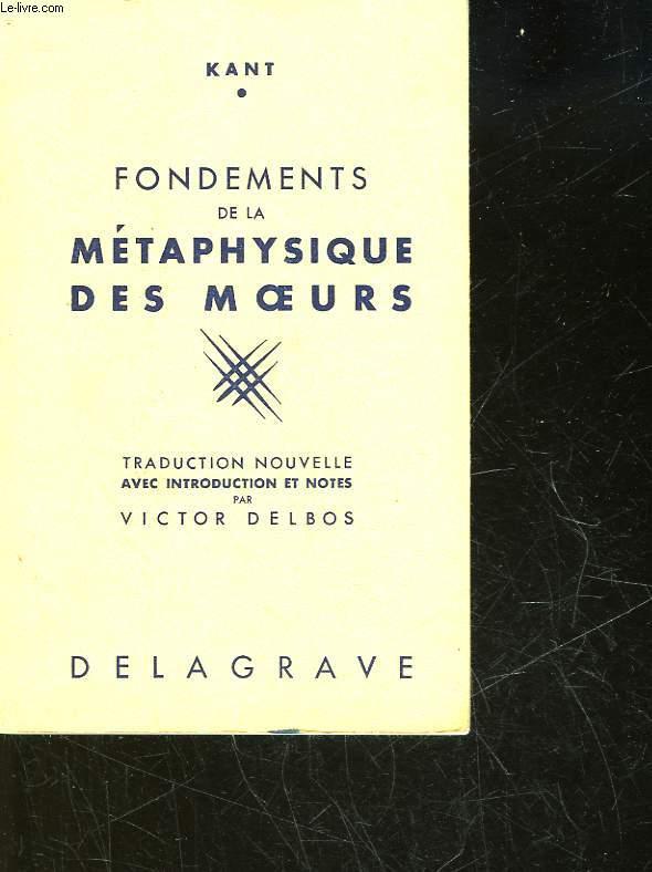 FONDEMENTS DE LA METAPHYSIQUE DES MOEURS