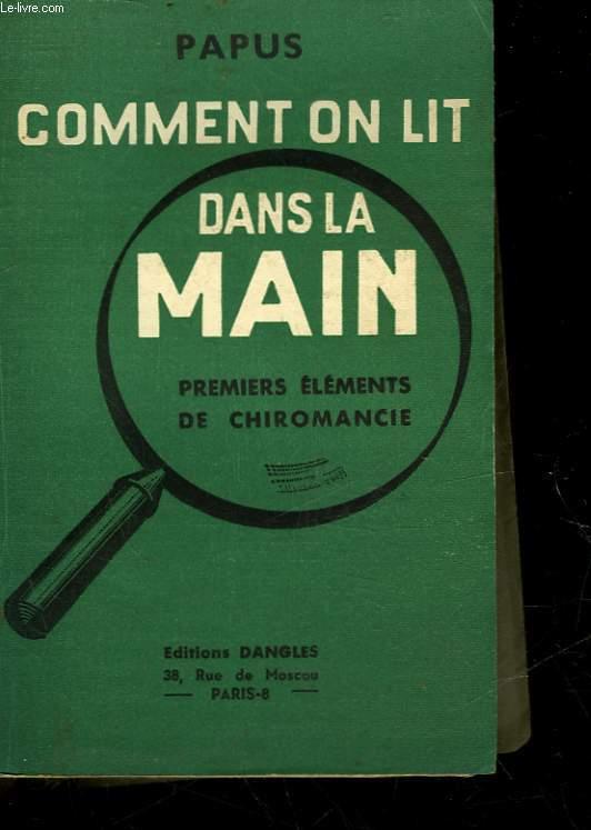 COMMENT ON LIT DANS LA MAIN