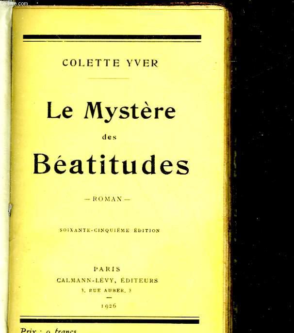 LE MYSTERE DES BEATITUDES