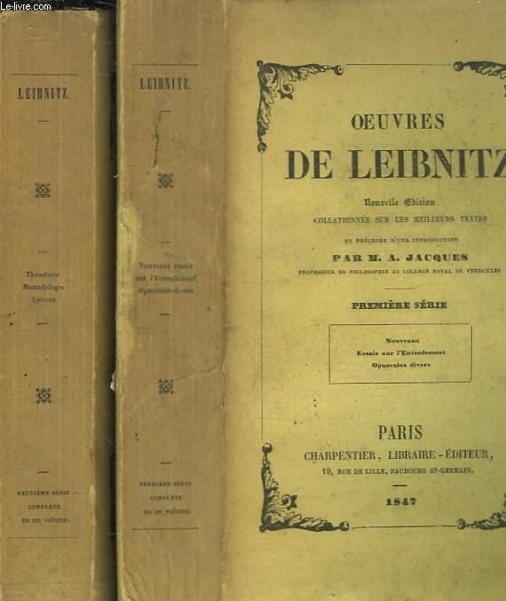 OEUVRES DE LEIBNIZ - 2 TOMES