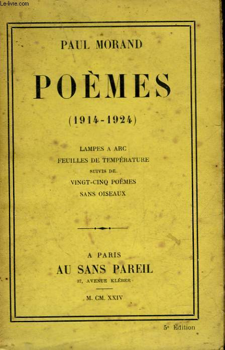 POEMES - 1914 - 1924