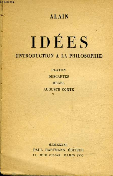 IDEES - INTRODUCTION A LA PHISOLOPHIE