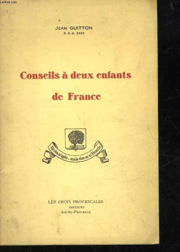 CONSEILS A DEUX ENFANTS DE FRANCE