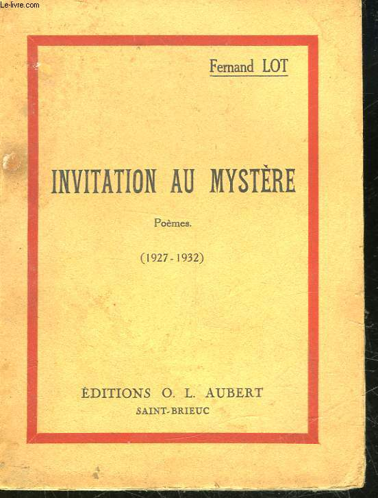 INVITATION AU MYSTERE - POEMES - 1927 - 1932