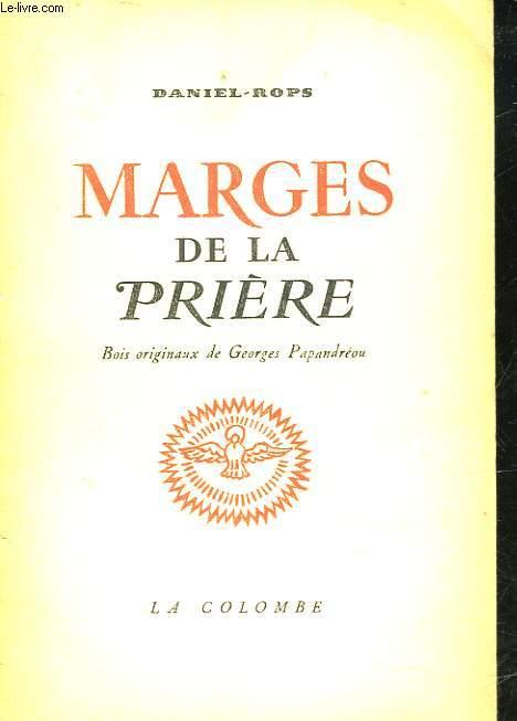 MARGES DE LA PRIERE